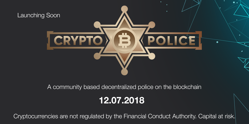 A banner for the announcement of CryptoPolice
