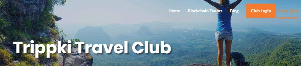Travel Club Trippki login page image