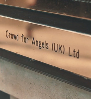 Door Plaque showing Crowd for Angels name