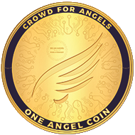 Images shows an ANGEL token (a form of cryptocurrency)