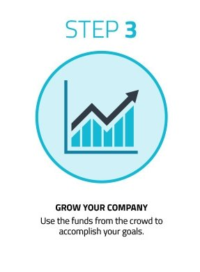Step 3) Use the funds to grow your company, Crowdfunding